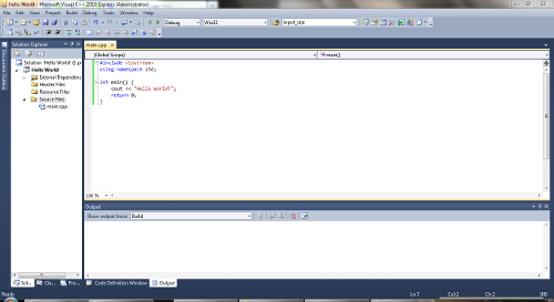 how to make a simple c++ program in visual studio